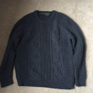 Irish fisherman's pure new wool sweater
